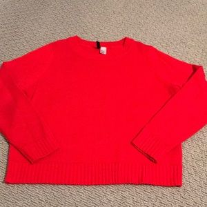 Divided red sweater